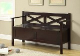 "I 4505 - Cappuccino Solid Wood 50""L Bench with Storage"