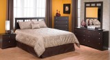 471/ 800 BEDROOM SUITE IN CAPPUCCINO WITH A PLATFORM BED
