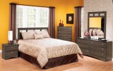 6PC CONGO TWIN OR QUEEN BEDROM SUITE IN GREY