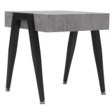 Lisson Accent Table in Cement by Worldwide Homefurnishings Inc