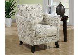 I 8007 - VINTAGE FRENCH FABRIC ACCENT CHAIR