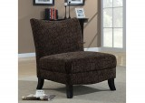 I 8045 - BROWN SWIRL FABRIC ACCENT CHAIR