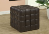 I 8980 - BROWN LEATHER-MATCH OTTOMAN
