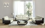 ARTHUR SOFA - 3 PCS SOFA, LOVESEAT & CHAIR IN LIGHT GREY AND BROWN