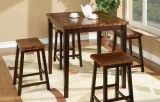 ACACIA - 5PC TABLE SET IN ACACIA DARK BY WINNERS ONLY