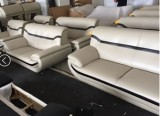 ADONA - 3PC Sofa, Loveseat, & Chair in Beige & Brown