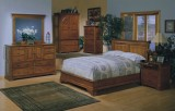 AMERICANA QUEEN SIZE BED FRAME ONLY IN CHERRY BY WINNERS ONLY