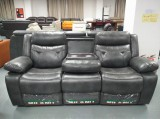 ARLANE - 3Pc RECLINER SET - SOFA, LOVESEAT & CHAIR IN GREY