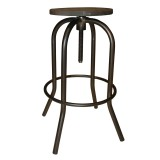 ARLO ADJUSTABLE STOOL IN GUNMETAL
