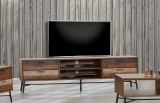 "Avalon 78"" TV Unit in Distressed Finish by Winners Only"