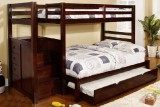 "Princeton Step/ Staircase 39"" / 54"" Bunk Bed Only - Espresso"