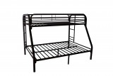 BLACK METAL TWIN / DOUBLE BUNK BED FRAME