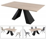 Baxter Dining Table Only In Black/white Oak