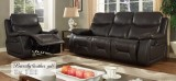 BEVERLEY - 3PCS RECLINER SET IN CHOCOLATE - LEATHER GEL