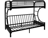 VENUS II - C METAL FUTON BLACK BUNK BED FRAME