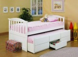 SELENA - CAPTAIN BED WITH TRUNDLE BED AND DRAWERS IN ESPRESSO