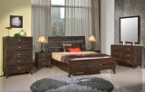 DAVENPORT - 5PC KING BED IN RECLAIMED LUMBER LOOK BY WINNERS ONLY