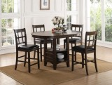 DENZEL - 5PC PUB TABLE SET WITH STORAGE BY EZTIA