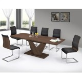 ECLIPSE/VENETA-7PC DINING SET IN WALNUT