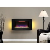Classic Flame 36II100GRG Elysium Wall Hanging Fireplace in Black