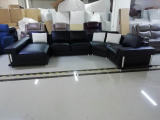Arlo - Sectional in Black Microfiber Leather