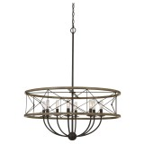 Cal Lighting FX-3685-8 Modica 8 Light Pendant In Distress Ivory-Iron