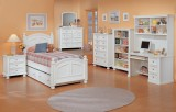 Farmhouse Bay Twin Bed in Off-White Only
