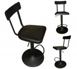 HAINES ADJUSTABE STOOL IN BLACK