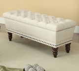 HAMPTON DOUBLE STORAGE BENCH IN BEIGE