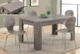 I 1051 / I 1055 - DARK TAUPE RECLAIMED-LOOK - 5 PCS DINING SET