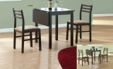 I 1078 CAPPUCCINO / I 1079 WALNUT - 3 Pcs Solid-Top Drop Leaf Dining Set