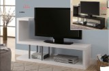 "I 2550 / I 2551 - HOLLOW-CORE 60""L TV CONSOLE - CAPPUCCINO OR WHITE"