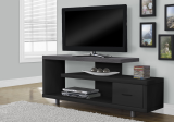 "I 2575 - TV STAND - 60""L / BLACK / GREY TOP WITH 1 DRAWER BY MONARCH SPECIALTIES"