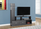 "I 2698 - TV STAND - 60""L / GREY WITH A DISPLAY TOWER BY MONARCH SPECIALTIES INC"
