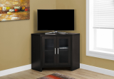 "I 2700 - TV STAND - 42""L / CAPPUCCINO CORNER WITH GLASS DOORS BY MONARCH SPECIALTIES INC"