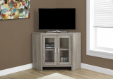 "I 2701 - TV STAND - 42""L / DARK TAUPE CORNER WITH GLASS DOORS BY MONARCH SPECIALTIES INC"
