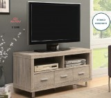 "I 3200 - NATURAL-RECLAIMED LOOK 48""L TV CONSOLE WITH 3 DRAWERS"