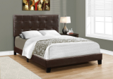 I 5922F - BED - FULL SIZE / DARK BROWN LEATHER-LOOK