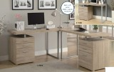 "I 7226 / I 7226C - NATURAL RECLAIMED-LOOK LEFT OR RIGHT FACING 48""L COMPUTER DESK OR CORNER WEDGE"