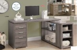 I 7319 / I 7219 - RECLAIMED-LOOK LEFT / RIGHT FACING CORNER DESK - DARK TAUPE OR NATURAL