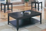I 7985 - Cappuccino 3 Pcs Coffee Table Set