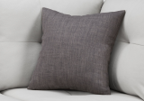 "I 9312 - PILLOW - 18""X 18"" / LINEN PATTERNED DARK GREY / 1PC"