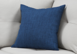 "PILLOW - 18""X 18"" / LINEN PATTERNED DARK BLUE / 1PC"