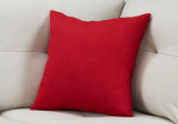 "I 9316 - PILLOW - 18""X 18"" / LINEN PATTERNED RED / 1PC"