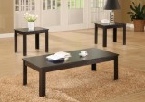 I 7840P - BLACK 3PCS COFFEE TABLE SET