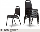 IF-1005- STACKING CHAIR IN BLACK