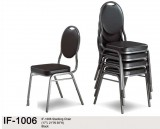 IF-1006 - STACKING CHAIRS IN BLACK