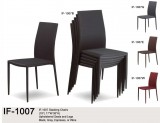 IF-1009 - STACKING CHAIRS IN EITHER BLACK, ESPRESSO, WINE OR GREY