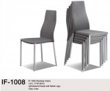 IF-1008 - STACKING CHAIRS IN GREY LINEN