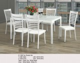 IF-1280 - 7PC DINETTE SET IN WHITE